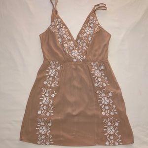 Tan/white dress from Forever 21